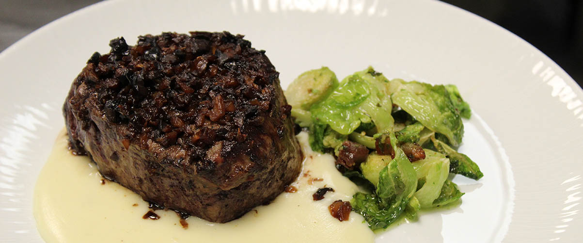 Chef Steven filet with brussels-slider